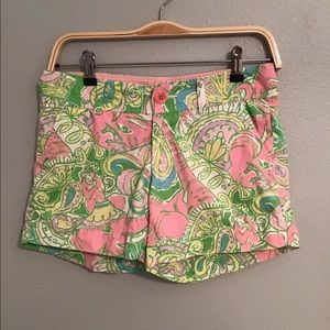 Lilly Pulitzer pink floral shorts